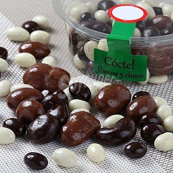 Carrefour Coctel de frutos secos 3 chocolates Tarrina de 200 g