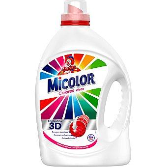 Micolor Detergente maquina liquido gel colores puros Botella 40 dosis