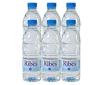 Aigua de Ribes Agua mineral natural pack 6 botellas. x 50 cl