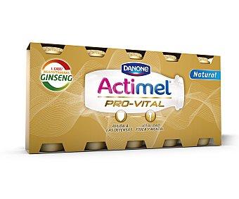 Actimel Danone Yogur líquido lactocasei natural con ginseng 5 unidades de 100 gramos