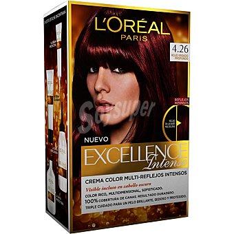 Excellence L'Oréal Paris Intense tinte Rojo Irisado Profundo nº 4.26 caja 1 unidad crema color multi-reflejos intensos 1 unidad