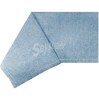 CASACTUAL Margarita mantel liso cuadrado con vainica color azul