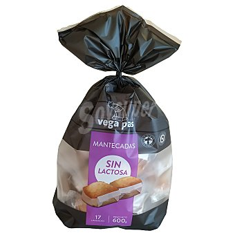 Vega Pas Mantecadas sin lactosa bolsa 600 gr Bolsa 600 gr