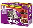 Comida para gatos a base de buey, cordero, pavo y pato 12 uds.100 g Whiskas