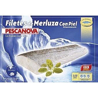 Pescanova Filetes de merluza con piel bolsa 400 g neto escurrido 5-10 unidades