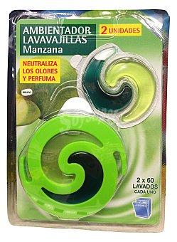 RELEVI Ambientador lavavajillas aroma manzana + recambio 2 unidades