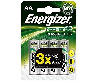ENERGIZER Recharge Pilas recargables AA/HR6 2000 mah energizer 4 Unidades 4u