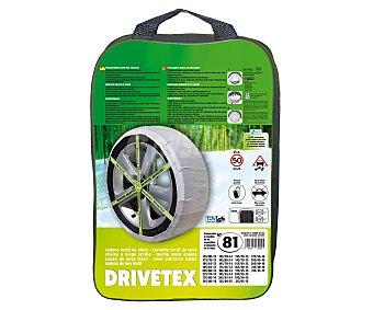 DRIVETEX Cadenas de nieve textiles, número 81 2 unidades