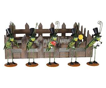 PROFILINE Pincho decorativo metálico de jardín con forma de saltamontes de 11.5x6x21 centímetros 1 unidad