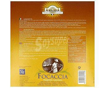 Amanda Focaccia de jamón, mozzarella y tomate 320 gr