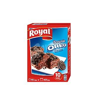 ROYAL Preparado para hacer brownie con Oreo 10 raciones molde incluido estuche 375 g