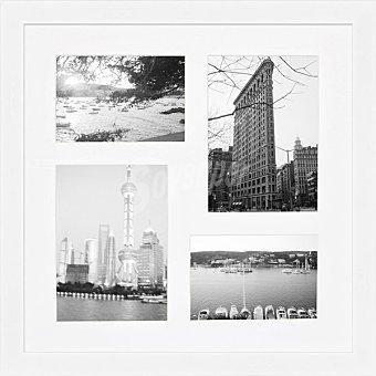 HERGON Marco múltiple 4 ventanas de 40 x 40 cm en color blanco 1 Unidad