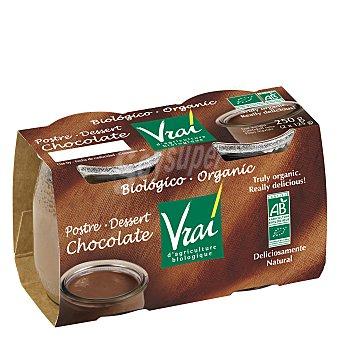 Vrai Postre de chocolate orgánico 2x125 g