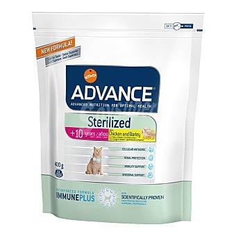 ADVANCE STERILIZED Pienso para gatos senior esterilizados Advance Sterilized +10 pollo 400 gr