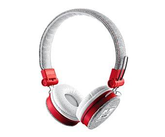 TRUST FYBER Auriculares tipo casco Gris/rojo, plegables, mando a distancia, micrófono, cable desmontable, conexión Jack 3,5mm. 1 unidad