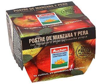 ALCAMPO PRODUCCIÓN CONTROLADA Compota de manzana y pera 2 x 100 gr