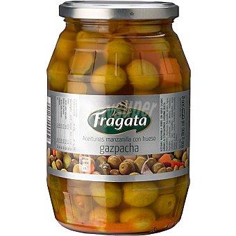 Fragata Aceitunas manzanilla con hueso aliño gazpacha Frasco 500 g neto escurrido