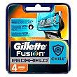 Chill recambio de maquinilla de afeitar Blister 4 u Gillette Fusion Proshield