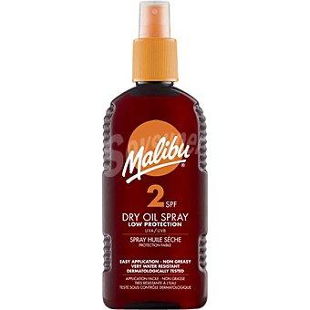 Malibu Aceite protector solar seco SPF-2 Spray 200 ml