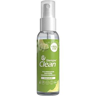 Siempre Solución hidroalcohólica higienizante 73% de alcohol olor melón clean Spray 100 ml
