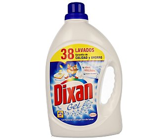 Dixan Detergente líquido para lavadora, frescor duradero 38 lavados