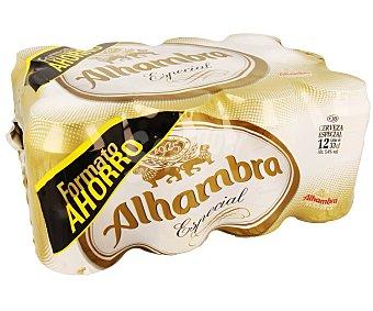 Alhambra Cerveza de tipo lager 12 latas de 33 cl