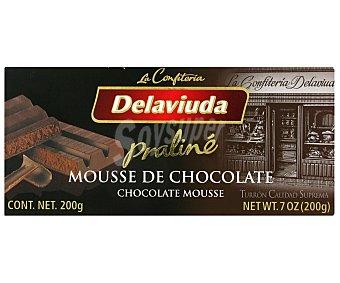 Delaviuda Turrón praliné de mousse de chocolate 200 gramos