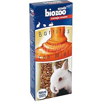 BIOZOO AXIS Barritas con miel para conejos enanos Envase 2 unidades