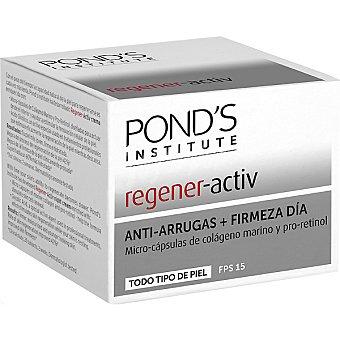 POND'S Institute Regener Activ crema hidratante antiarrugas + firmeza día FPS-15 con micro-cápsulas de colágeno marino y pro-retinol para todo tipo de piel tarro 50 ml