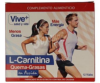 Viveplus L- carnitina líquida 12 unidades 10 mililitros