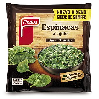 Findus Verdeliss espinacas al ajillo Bolsa 450 gr