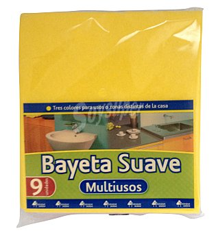 Bosque Verde Bayeta suave multiusos colores Paquete 9 unidades