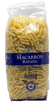 Hacendado Macarron rayado pasta Paquete 500 g