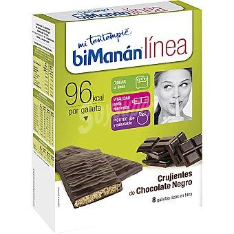 Bimanan Linea Galletas crujientes de choco negro 8x20g Mi Tentempié Caja 160 g