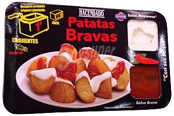 Hacendado Comida preparada patatas bravas (mayonesa + salsa brava) Paquete 490 g
