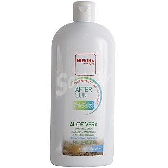 NIEVINA After sun prolongador del bronceado aloe vera regenerante con vitamina E rápida absorción Frasco 400 ml