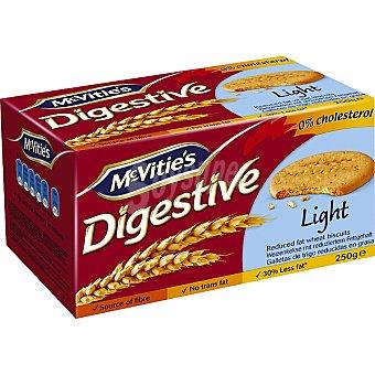 MCVITIE'S Digestive Light Galletas bajas en grasa paquete 250 g Paquete 250 g