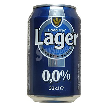 Carrefour Cerveza lager blond sin alcohol 33 cl