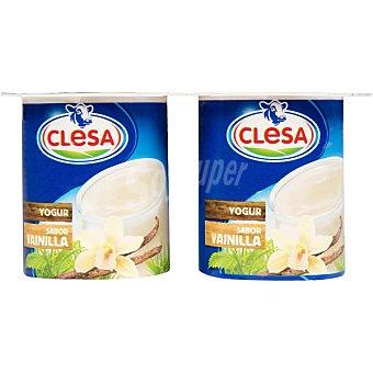 Clesa Yogur sabor vainilla pack 4 unidades 125 g Pack 4 unidades 125 g