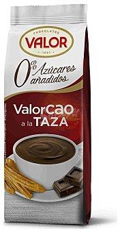 Valorcao Chocolate a la taza sin azúcar Paquete 200 g