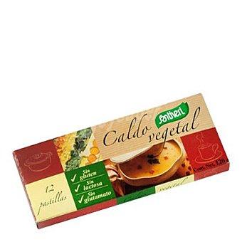 Santiveri Pastillas para caldo vegetal sin gluten y sin lactosa 12 ud