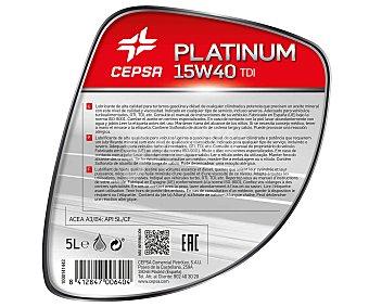 CEPSA Aceite mineral para vehículos gasolina y diésel 5 Litros