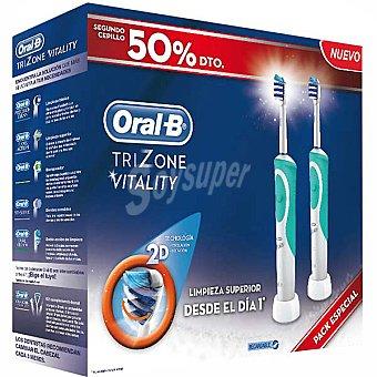 Tres Cepillo dental Vitality con limpieza en zonas