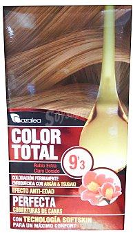 AZALEA Tinte coloración permanente color total Nº9.3 rubio extraclaro dorado (enriquecido con aceite argan y tsubaki) Unidad
