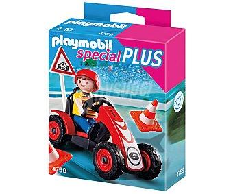 PLAYMOBIL Niño con coche de carreras Special Plus, modelo 4759 de 1 unidad