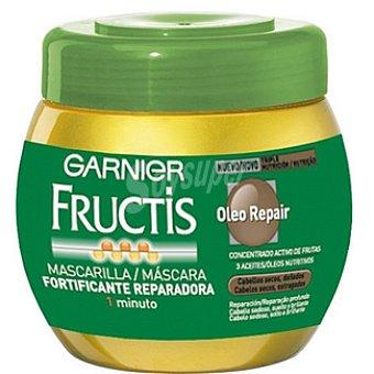 Fructis Garnier Mascarilla fortificante Oleo Repair con concentrado activo de frutas tarro 400 ml cabello seco o dañado Tarro 400 ml