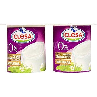 Clesa Yogur natural desnatado Pack 4 unidades 125 g