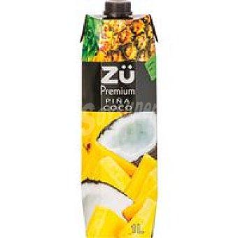 Premium Bebida de piña y coco ZÜ 1l