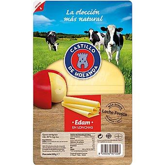 CASTILLO queso edam en lonchas envase 250 g