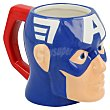 Taza Cerámica Cabeza 3D - Azul 1 ud Capitán América